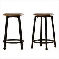 Wrought Iron Wooden Stools