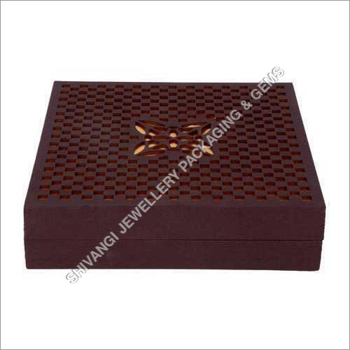 Brown Laser Cut Jewelry Box