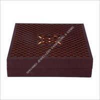 Brown Laser Cut Jewelry Box