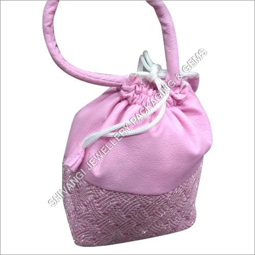Pink Jewelry Pouch
