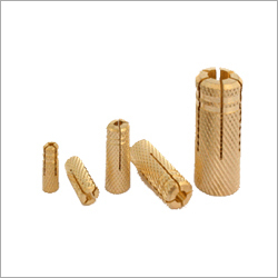 Brass Drop In Knurling Anchor