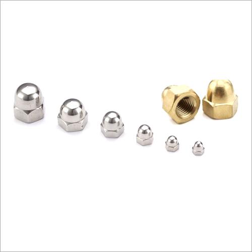 Chrome Polished Brass Dome Nut