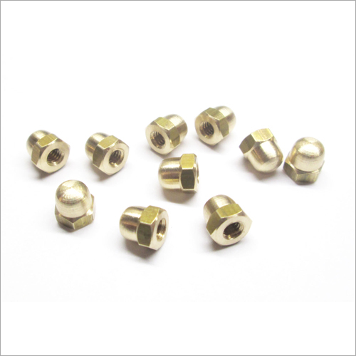 Coarse Solid Brass Dome Nut