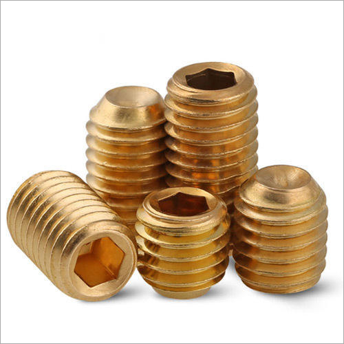 Brass Silver Grub Screw
