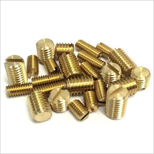 Brass Slotted Grub Screw