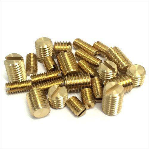 Brass Slotted Grub Screw