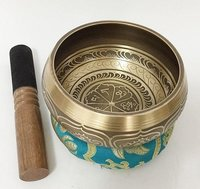 Brass Singing Bowls with Cushion &  Leather Stick