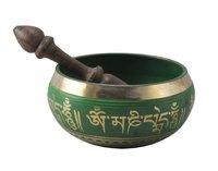 Tibetan Singing Bowl -Green