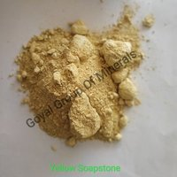 Dark yellow talc
