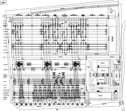 132kV Switchyard Layout Plan & Elevation Drawing