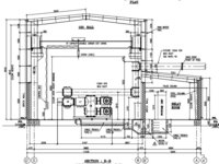 GIS Substation Layout Plan and Elevation Drawing