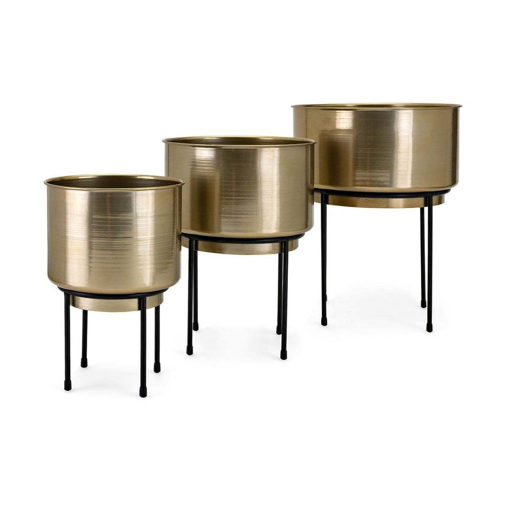 Iron Crafted Planters on Stand Set of 3