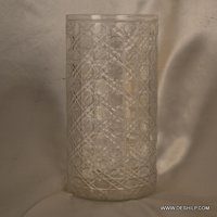 CUT GLASS FLOWER VASE
