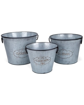 Iron Pot Planter Set With Handles