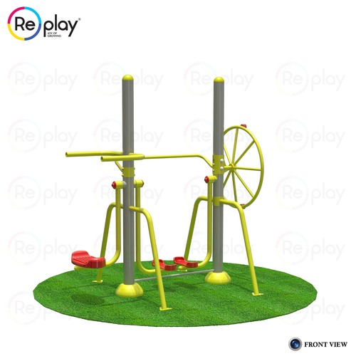 Air Walker With Mini Ski & Shoulder Wheel