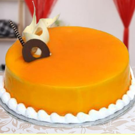 Mango Garnish Cake