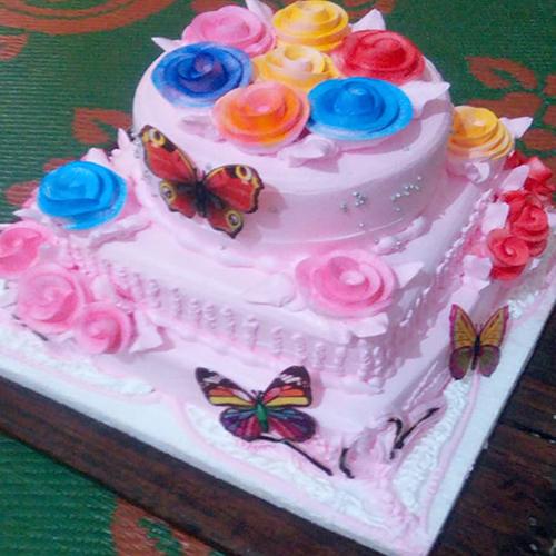 Tripple Story Butterfly Cake
