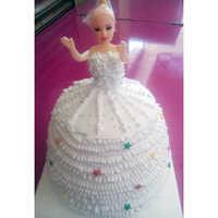 White Doll Cake