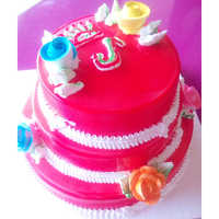 Tik Tok Triple Story Strawberry Cake