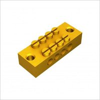 Brass Earth Terminal Block 4 Way