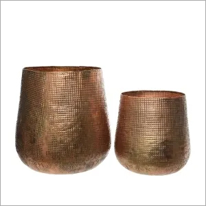 Brass Planter with copper finish