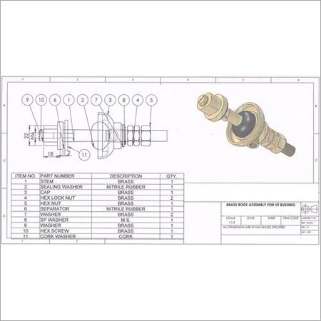Brass Customized Transformer Bushing Parts