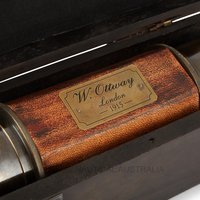 Telescope – Engraved Leather Bound
