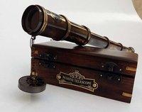 Telescope – Antique Leather Bound