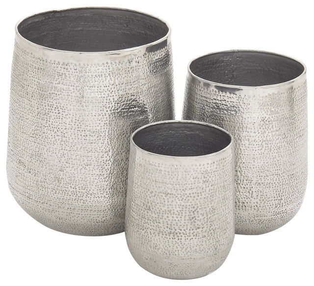 Aluminum Planter Set Of 3