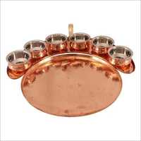 Maharaja Copper Thali Set
