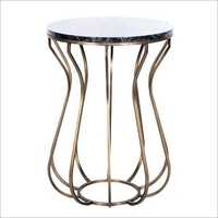 Iron Brass Finish Table