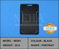 Plain ID Card Holder Black