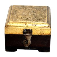 Decorative Home Decorative Brass Fitted Wooden Box
