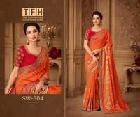 Georgette embroidered sarees