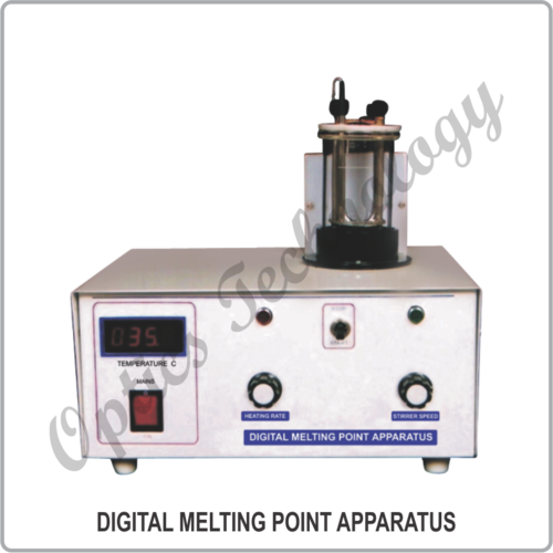 DIGITAL MELTING POINT APPARATUS WITH SILICON OIL BATH