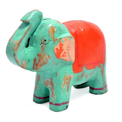 Wooden Home Decor Elephant Shape Visiting Card Holder