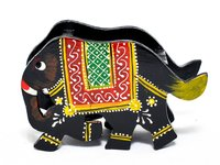 Home Decorative Gift Purpose Wooden Elephant Mobile Stand Holder