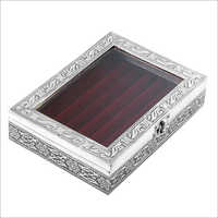 Decorative Silver Ring Box