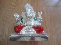 Silver God Ganesh Statue