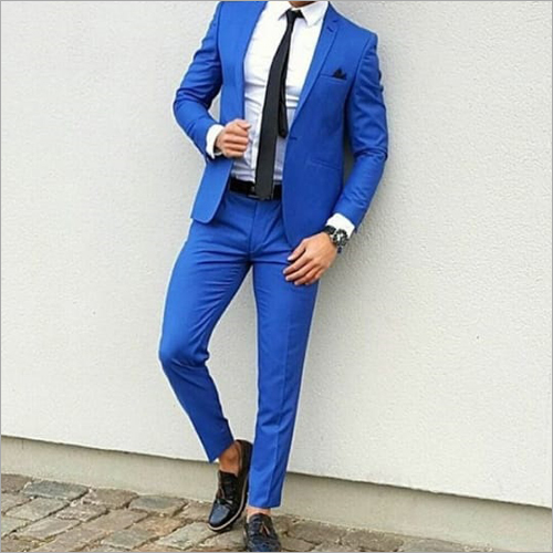 Mens Blue Coat Pant