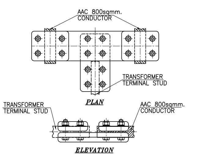Erection Key Diagram plan & elevation drawing