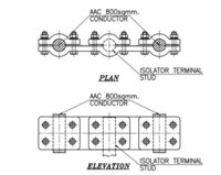 Erection Key Diagram plan & elevation drawing