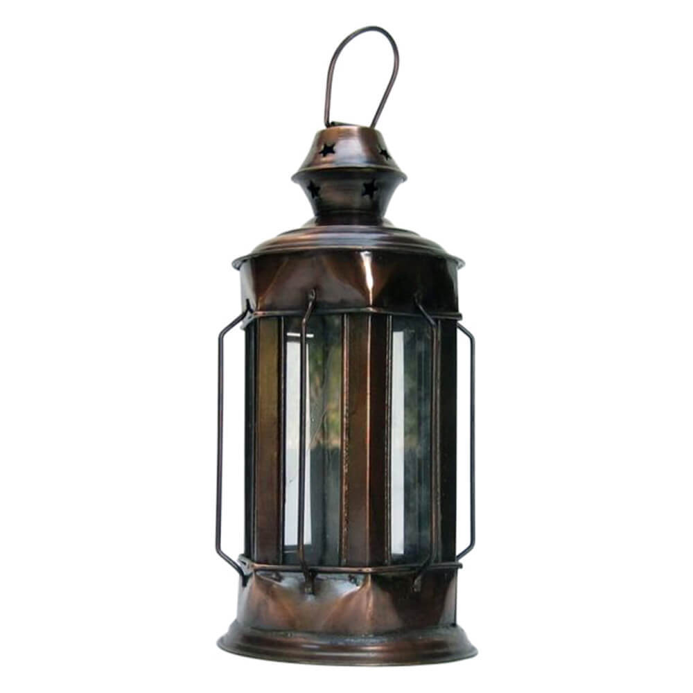 Candle Lantern Glass Antique Finish