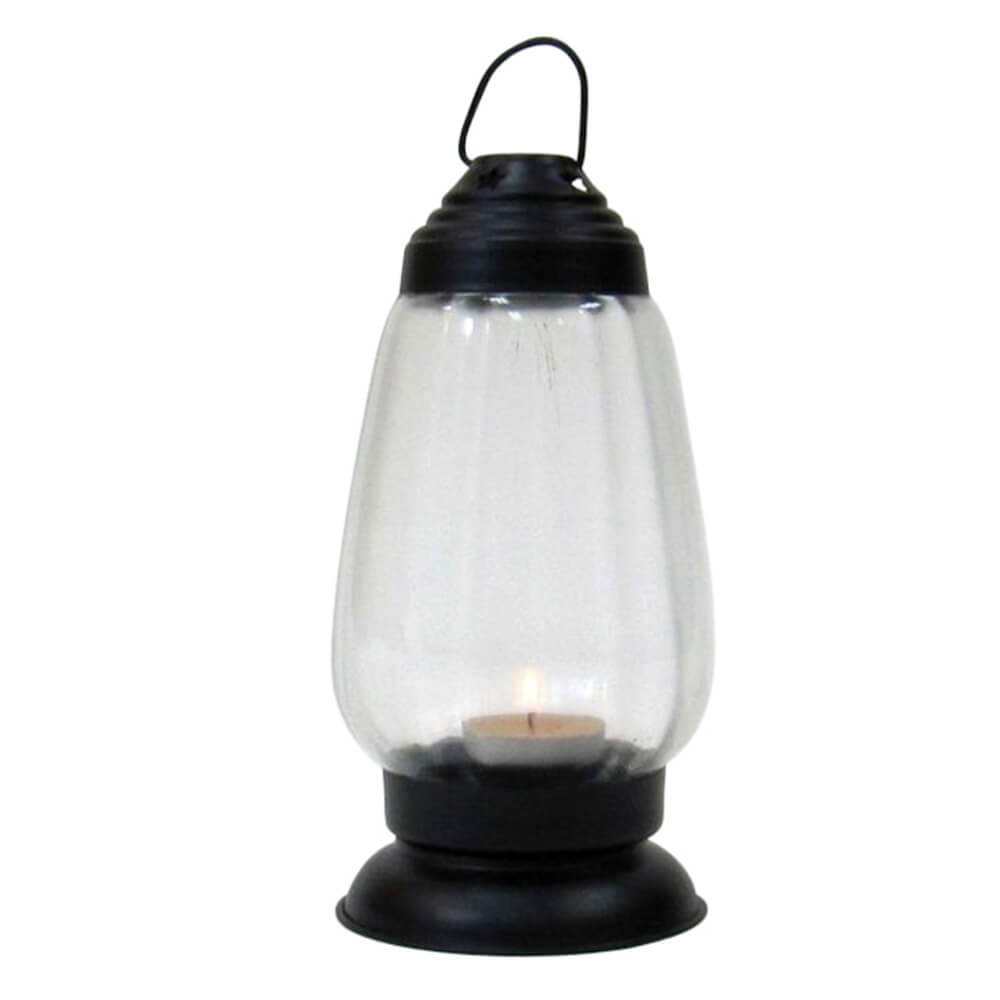 Iron Candle Lantern Black