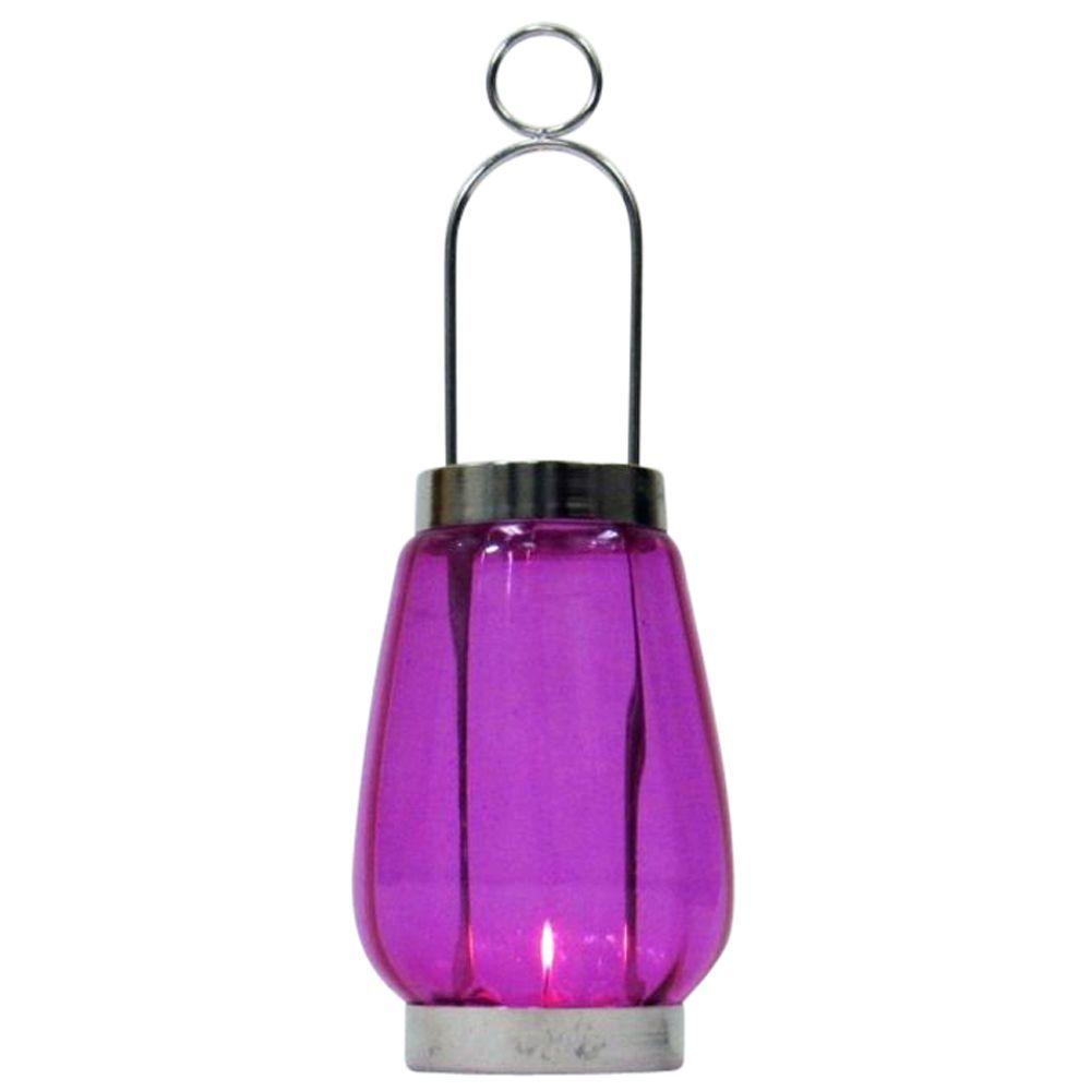 Candle Lantern Round Sliding Chrome Plated