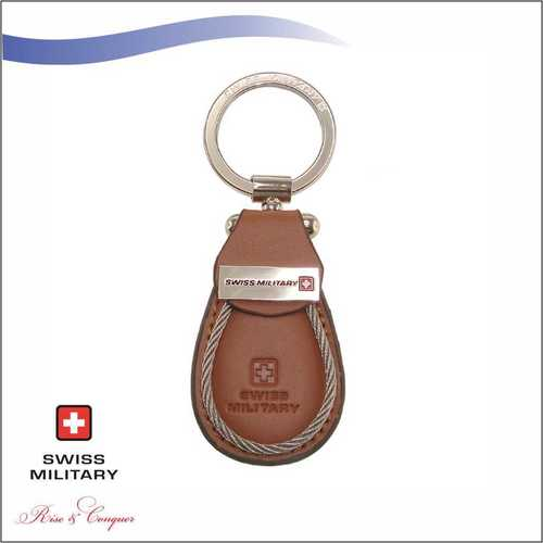 Swiss Military Leather Keychain (KM1)