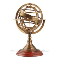 World Globe – Brass Armillary Zodiac (Medium)
