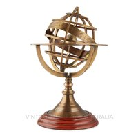 World Globe – Brass Armillary Zodiac (Medium)