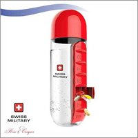 Swiss Military Pill Bottle with Inbuilt Pill Organiser 600 ML (SMF3)