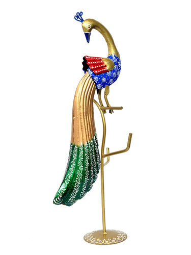Iron Painted Peacock Hook Stand Multi purpose